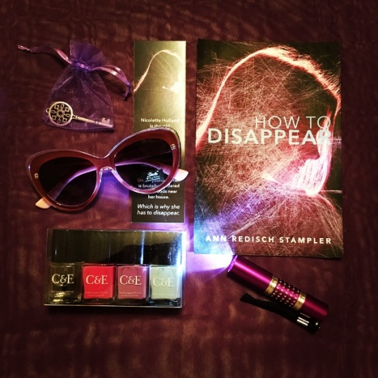 Click on the image to sign up at Rafflecopter for chances to win a copy of How to Disappear and swag bag!